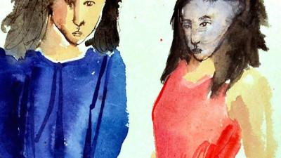 2014_5_1_Bilderbuch-für-Erwachsene_Geliebter-gehemmter-Moment-in-blau-rot_30x40cm